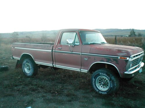 small resolution of 1975 ford f250 4x4 high boy project very solid