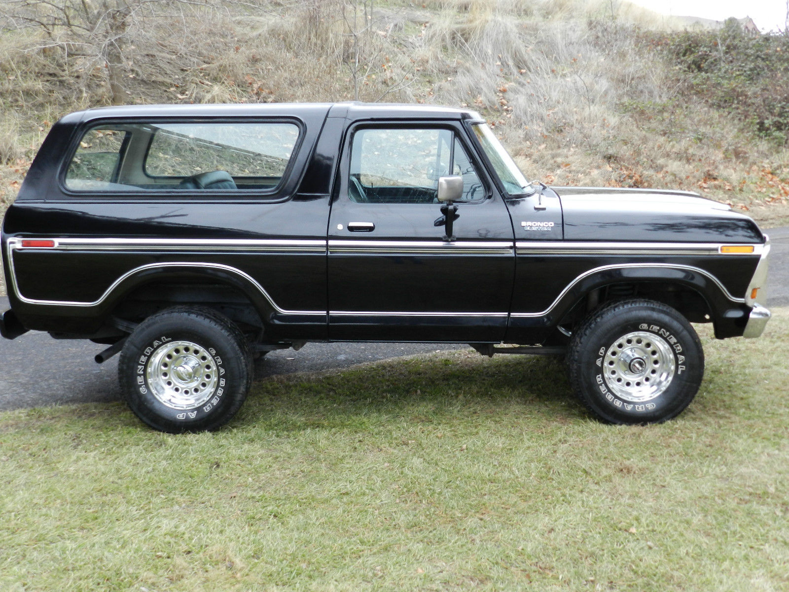 ford f150 bronco chevy trucks 4 door 1979 4x4 xlt black on classic solid