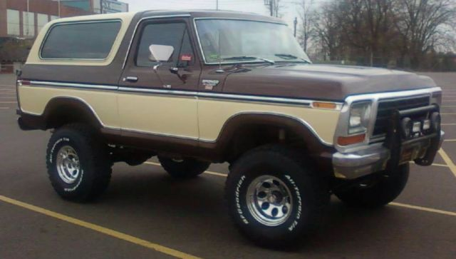 1979 Two Owner Full Size Brown And Tan Ford Bronco