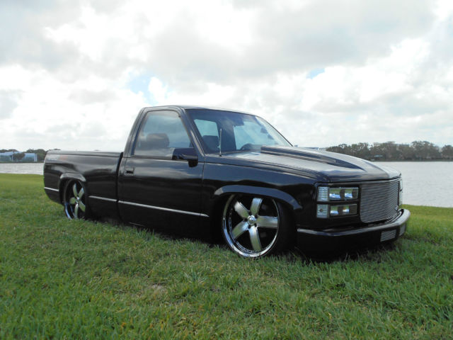 Black Truck Chevy C1500 Custom Pickup