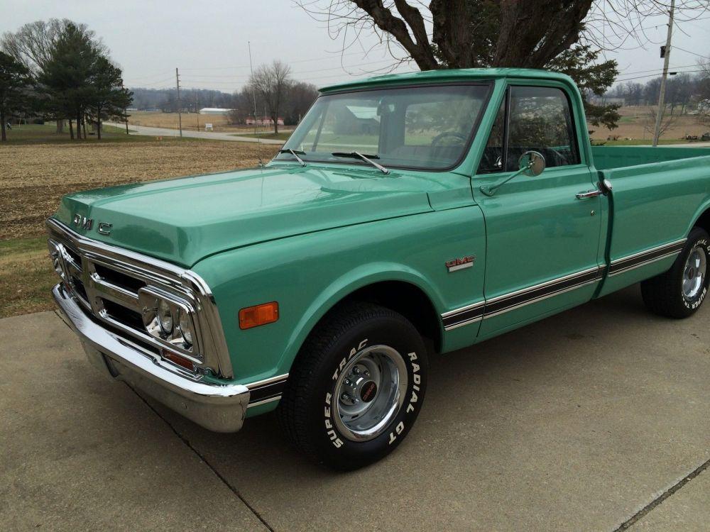 medium resolution of 69 2wd pickuptruck classic show original motor transmission 305 v6 light green 1969 gmc other 1500