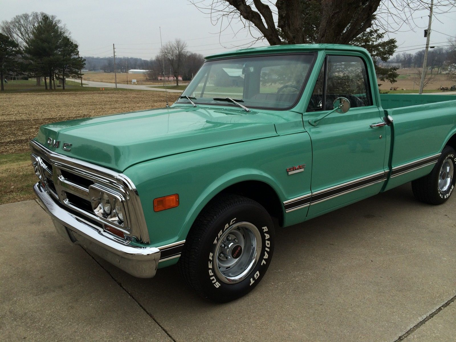hight resolution of 69 2wd pickuptruck classic show original motor transmission 305 v6 light green 1969 gmc other 1500