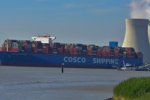 Aankomst Cosco Shipping Universe 23-07-'18-33