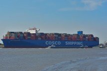 Aankomst Cosco Shipping Universe 23-07-'18-42