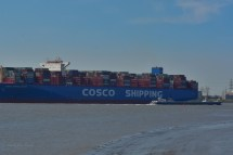 Aankomst Cosco Shipping Universe 23-07-'18-43