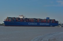 Aankomst Cosco Shipping Universe 23-07-'18-44