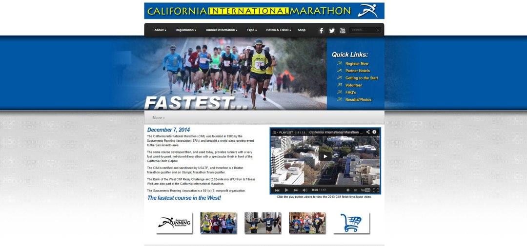Web Design Website Site Graphic Design California International Marathon