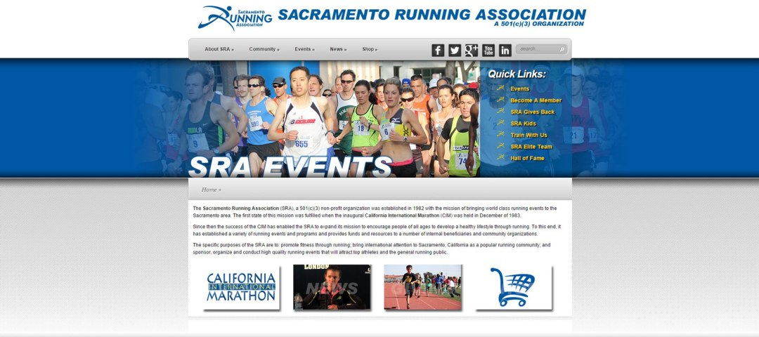 Web Design Website Site Graphic Design Sacramento Running Association