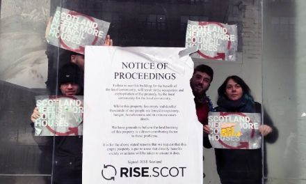 Activists occupy Glasgow city centre building in protest