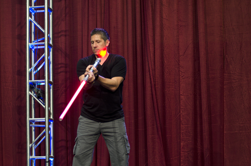 Actor And Martial Artist Ray Park Attempts To Demonstrate His Darth Maul Routine But Is