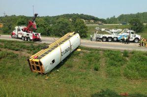 Pembroke Hill Bus Flips Causing Injuries