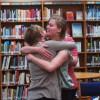 Christensen and Mohn hug before leaving.