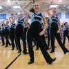 Varsity Lancer Dancers perform their second dance of the pep assembly. Photo by Callie McPhail