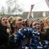 "Seniors chant ""Seniors, Seniors"" at the beginning of the pep rally. Photo by Callie McPhail"