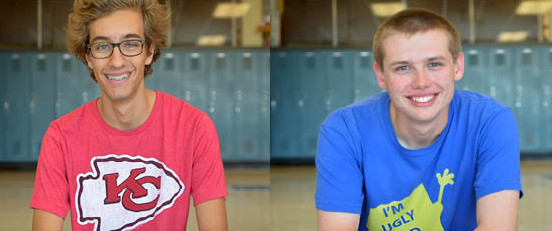 Coleman Brockmeier, left, Caleb Hanlon, right