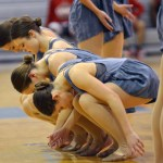 The Lancer Dancers perform their lyrical dance at halftime. Photo by Ally Griffith