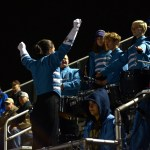 Senior Natalie Nitsch cuts off the drum section during the second quarter. Photo by Megan Stopperan