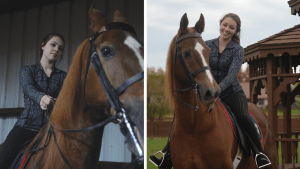 Happiest with Horses; Junior pursues passion for riding horses