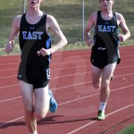 Seniors Quincy Eastlack and Alex Washburn compete in the 1600 meter run. Photo by Kate Nixon
