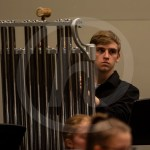 Sophomore Nate Curry plays the Chimes. Photo by Dakota Zugelder