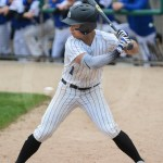Junior Robert Moore gets ready to hit during his first at bat. Photo by Sarah Golder