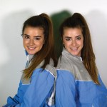 Sophomores Lucy and Zoe Hartman fooled their teachers when they switched places at school. Photo by Katherine McGinness
