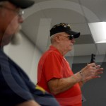 A Vietnam War Veteran tells the junior class about his jobs during the war and how the war affected him. Photo by Austin Housley