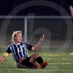 Junior Josephine McCray motions to the ref after being tripped. No foul was called. Photo by Kate Nixon