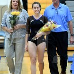 Following Gorman, senior Brooklyn Beck walks with her family. Photo by Kate Nixon