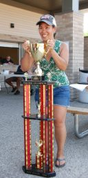 Janice at 2018 Niagara Falls Summer Daze Grand Champion Trophy