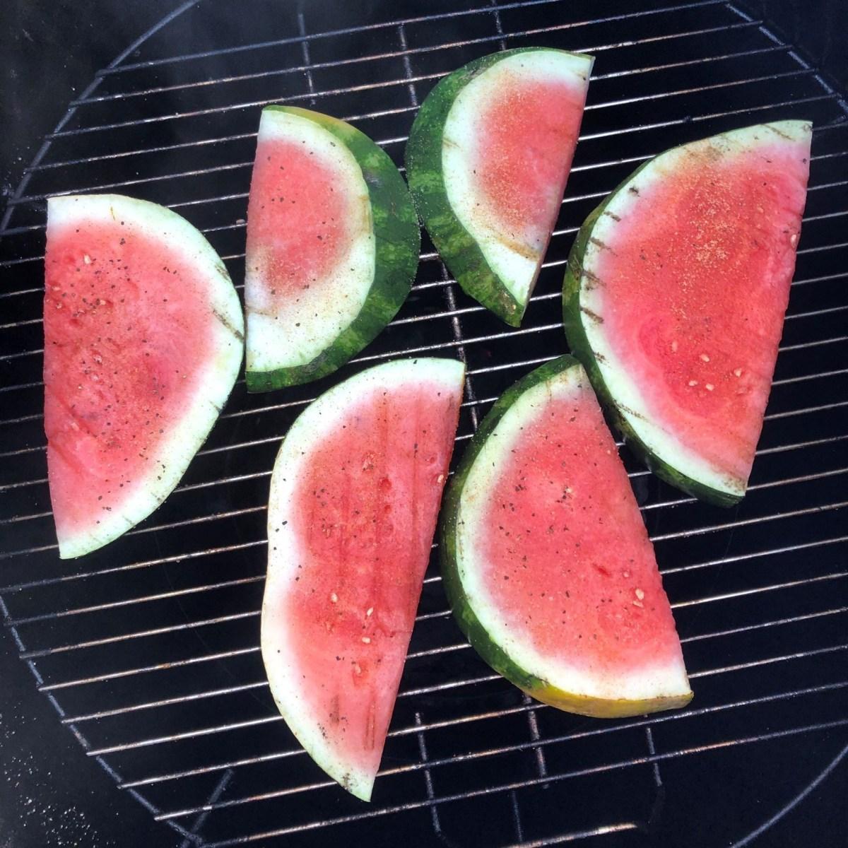 Grilled watermelon on Gateway Drum Smoker