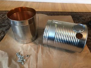 Tension held Inner connector ring on DIY Tin Can Smoker