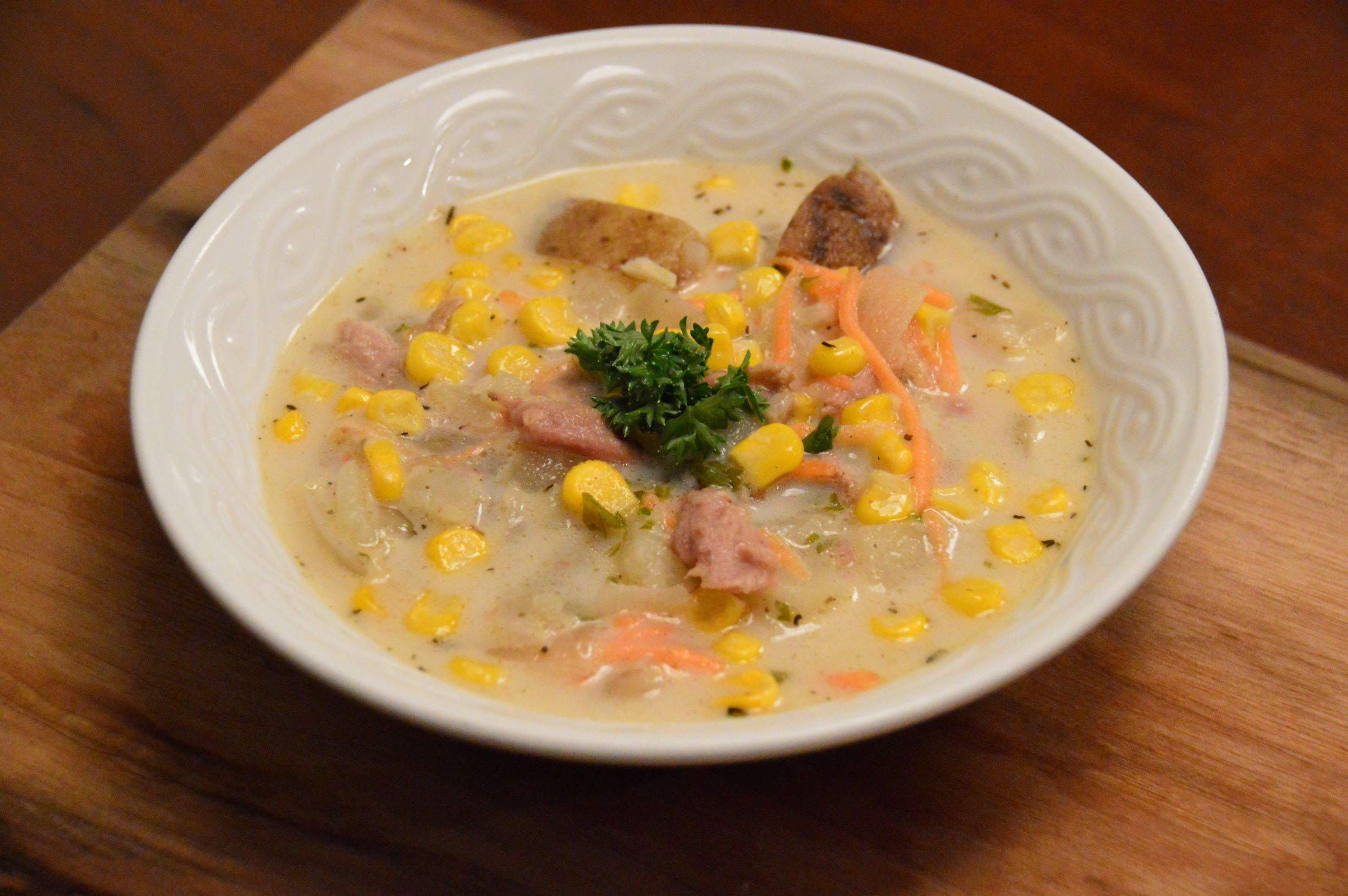 Chowder from Leftover Chicken/ Turkey/ Duck