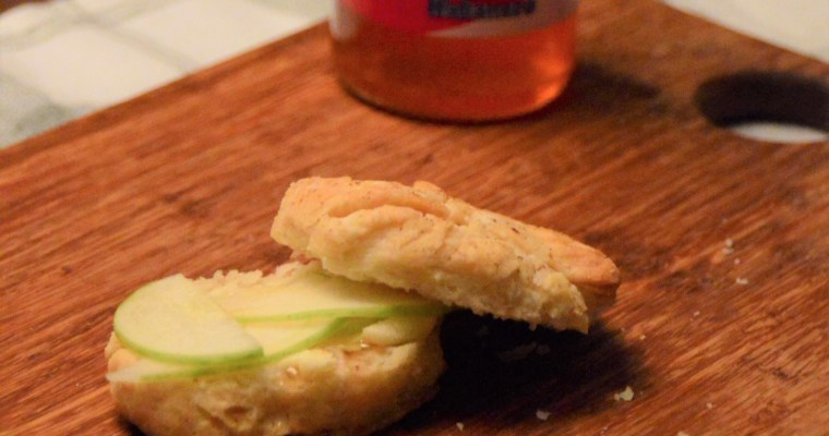 Apple Cider Biscuits with Pepper Jelly and Apple Slices