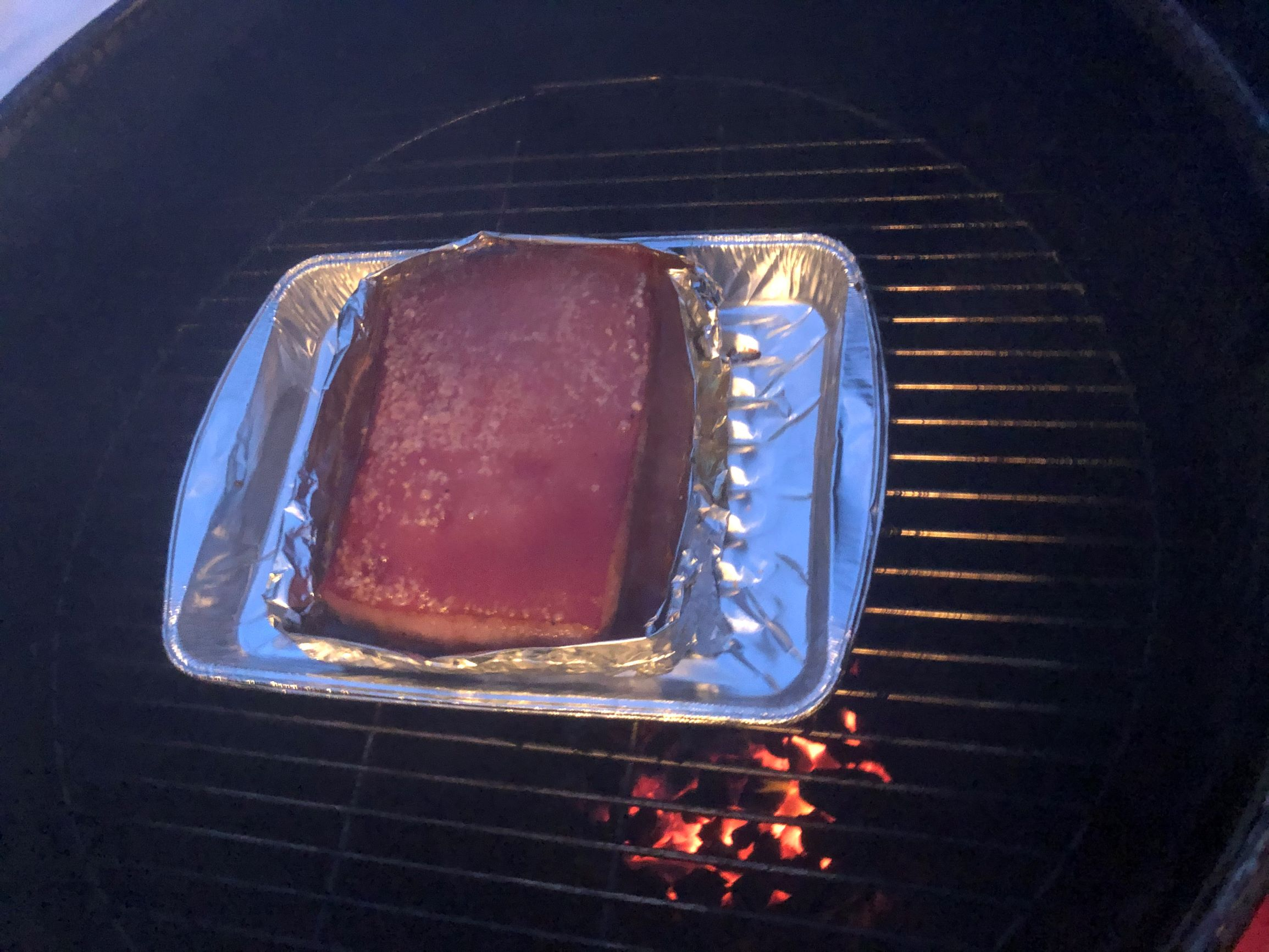 Siu Yuk Preparation - Pork belly after braising