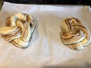 Cinnamon Almond Knotted Bread - Knotted Bread before proofing