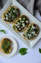 Grilled Mushroom Pesto Toast