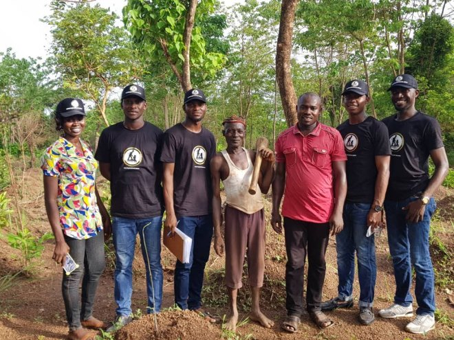 Team Peatuce with local Farmers