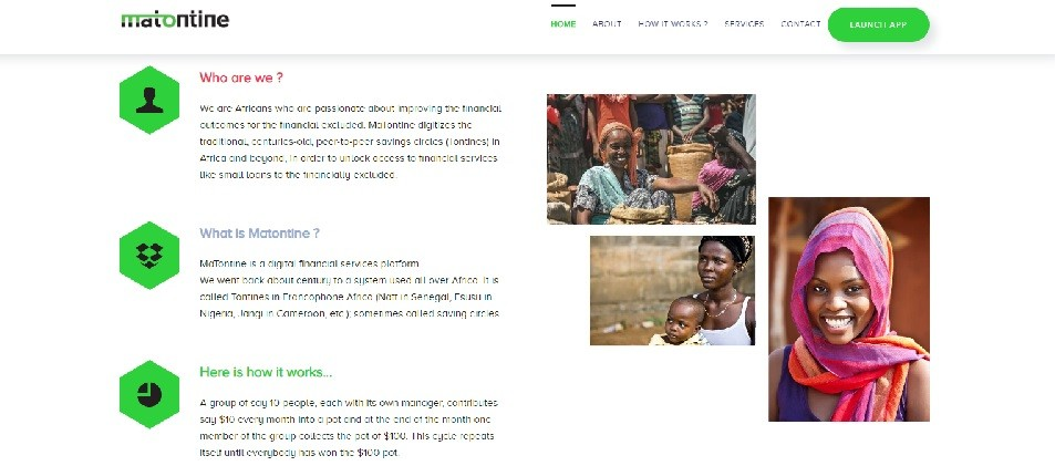 Matontine website screenshot - Smepeaks