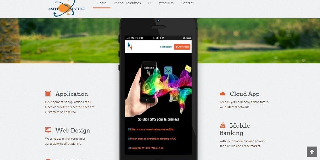 Afrintic website screenshot - Smepeaks