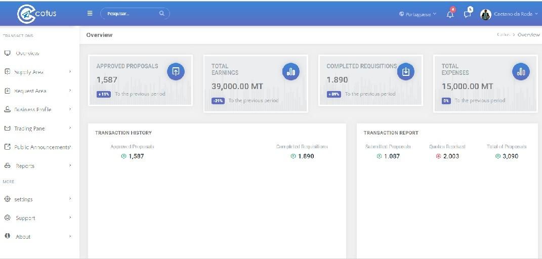 Cotus website screenshot - Seedstars Maputo
