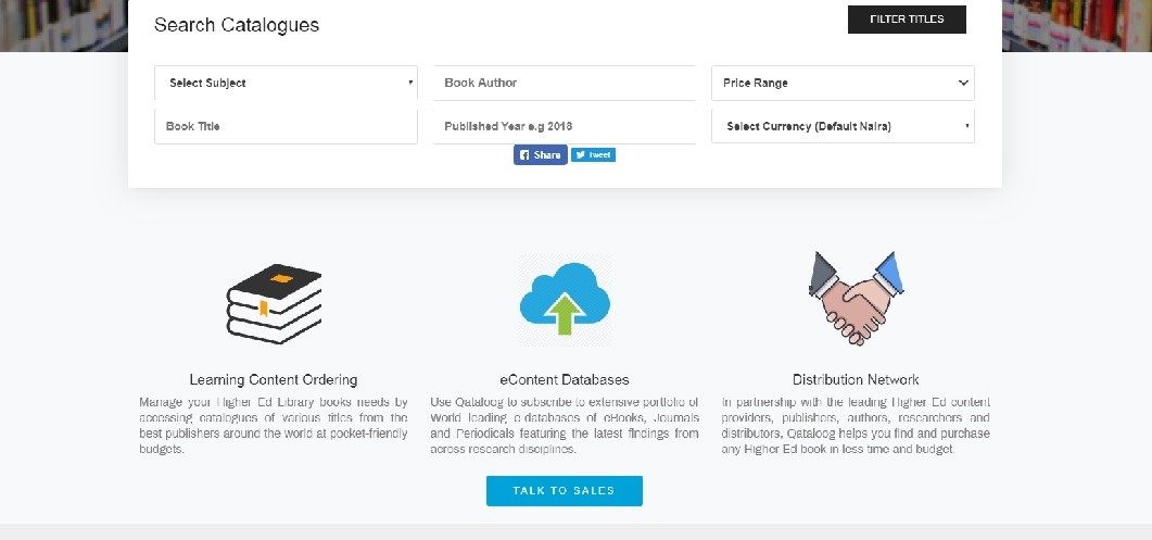 Qataloog's website screenshot - Smepeaks