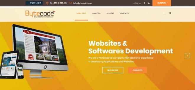 Bytecode website screenshot - Seedstars Maputo