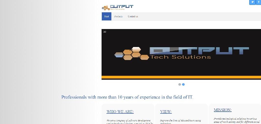 Output Tech website screenshot - Seedstars Maputo