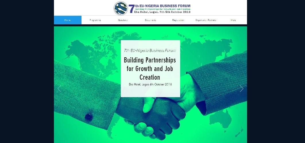 Eunf website screenshot - EU-Nigeria Business