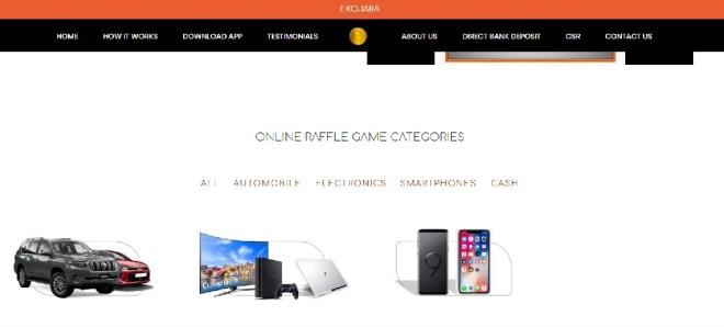 Ekojara website screenshot - Ekojara