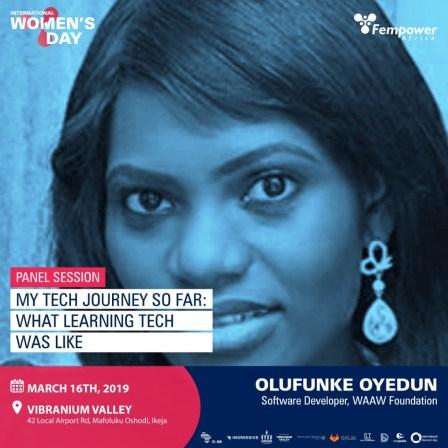 Olufunke Oyedun, WAAW Foundation - One of Fempower IWD Event Speakers