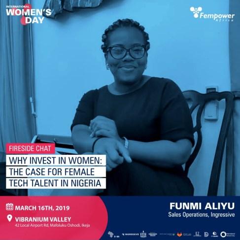 Funmi Aliyu, Ingressive - Fempower IWD Event Speakers