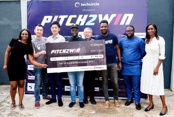 Truckrtech, winner of Pitch2Win, 2019 by TechCircle