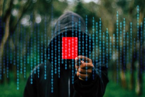 Avoiding online fraud - hacker image